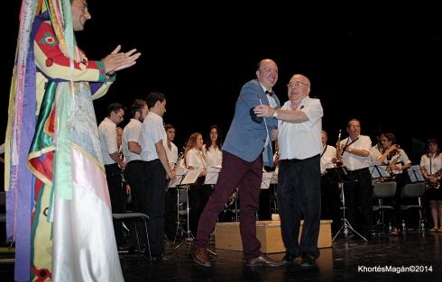 Banda Municipal de Mu´sica. Aplausos para su director Eduardo Ramírez Hernández
